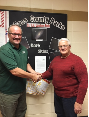 Parks Director Scott Wyman with Dark-Sky advocate Robert Parrish